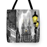 Bw Prague Old Town Squere Tote Bag by Yuriy  Shevchuk