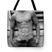 Male Abs Tote Bag by Mark Ashkenazi