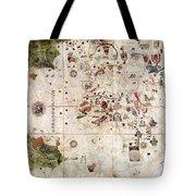 Nina: World Map, 1500 Tote Bag by Granger