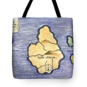 Map Of Atlantis, 1678 Tote Bag by Granger