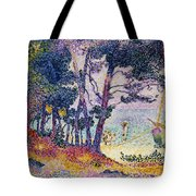 A Pine Grove Tote Bag by Henri-Edmond Cross