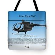Ah-6j Little Bird Tote Bag by Arthur Eggers