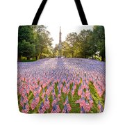 American Flags Tote Bag by Susan Cole Kelly