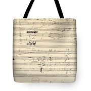 BEETHOVEN MANUSCRIPT, 1826 Tote Bag by Granger