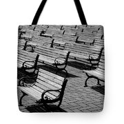 Benches Tote Bag by Perry Webster