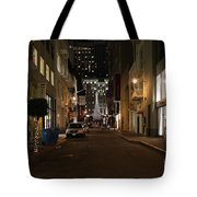 Christmas Eve 2009 On Maiden Lane In San Francisco Tote Bag by Wingsdomain Art and Photography