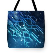 Circuit Board Technology Tote Bag by Setsiri Silapasuwanchai
