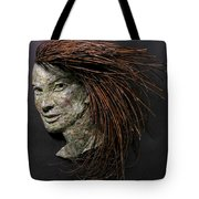 Daisy A Relief Sculpture By Adam Long Tote Bag by Adam Long