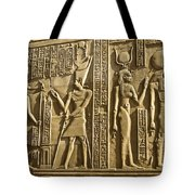 Egyptian Temple Art Tote Bag by Michele Burgess