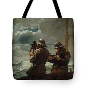 Eight Bells Tote Bag by Winslow Homer