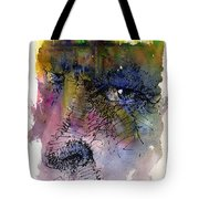 Face With Tree Tote Bag by John D Benson