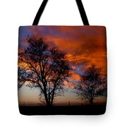 Fire in the Sky Tote Bag by Peter Piatt