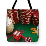 Gambling dice Tote Bag by Garry Gay