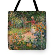Garden At Giverny Tote Bag by Claude Monet