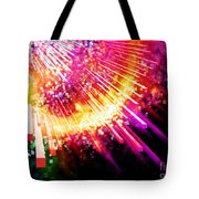 Lighting Explosion Tote Bag by Setsiri Silapasuwanchai