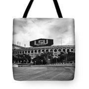 Lsu Tiger Stadium Tote Bag by Scott Pellegrin