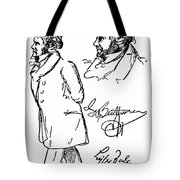 Ludwig Van Beethoven Tote Bag by Granger
