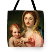 Madonna And Child Tote Bag by Anton Raphael Mengs