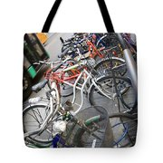 Many Bikes Tote Bag by Marilyn Hunt