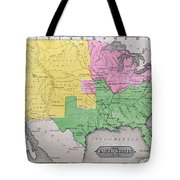 Map Of The United States Tote Bag by John Warner Barber and Henry Hare