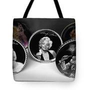 Marilyn And Elvis Tote Bag by Daniel Hagerman