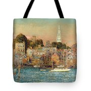 October Sundown Tote Bag by Childe Hassam