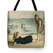 On The Beach Tote Bag by Edouard Manet