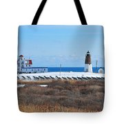 Point Judith Light Tote Bag by Catherine Reusch  Daley