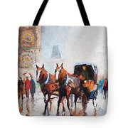 Prague Old Town Square Tote Bag by Yuriy  Shevchuk