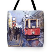 Prague Old Tram 03 Tote Bag by Yuriy  Shevchuk