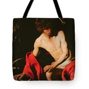 Saint John the Baptist Tote Bag by Michelangelo Caravaggio