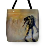 Savior In A Storm Tote Bag by Todd Krasovetz