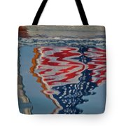 Stars And Stripes On The Water Tote Bag by Steven Lapkin