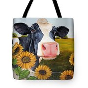 Sunflower Sally Tote Bag by Laura Carey