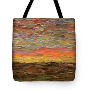 Sunset Tote Bag by James W Johnson