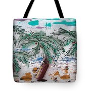 Surf N Palms Tote Bag by J R Seymour
