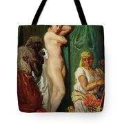 The Bath In The Harem Tote Bag by Theodore Chasseriau