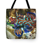 Tropical Fish Mandarinfish Tote Bag by MotHaiBaPhoto Prints