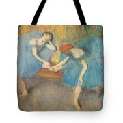 Two Dancers At Rest Tote Bag by Edgar Degas