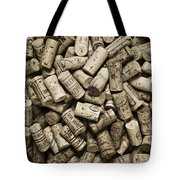 Vintage Wine Corks Tote Bag by Frank Tschakert