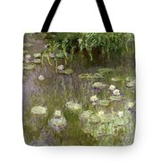 Waterlilies At Midday Tote Bag by Claude Monet