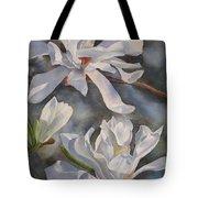 White Star Magnolia Blossoms Tote Bag by Sharon Freeman
