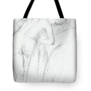 After The Bath Tote Bag by Edgar Degas