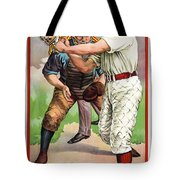 1895 IN THE BATTERS BOX Tote Bag by Daniel Hagerman