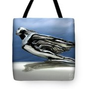 1941 Cadillac Emblem Abstract Tote Bag by Peter Piatt