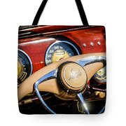 1941 Lincoln Continental Cabriolet V12 Steering Wheel Tote Bag by Jill Reger