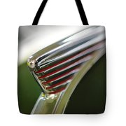 1941 Nash Ambassador 600 Hood Ornament Tote Bag by Jill Reger