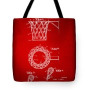 1951 Basketball Net Patent Artwork - Red Tote Bag by Nikki Marie Smith