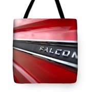 1965 Ford Falcon Name Plate Tote Bag by Brian Harig