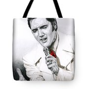 1968 White If I Can Dream Suit Tote Bag by Rob De Vries